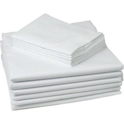 12 Piece Lot New White Hotel Pillow Cases Covers T-180 Standard 20 X 30 Premium