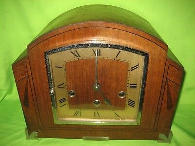 Art Deco HALLER WESTMINSTER CHIMING MANTLE CLOCK