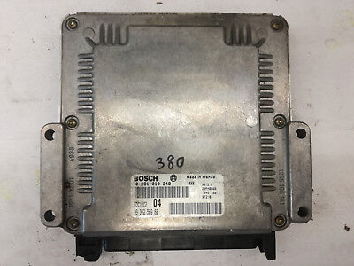 CALCULATEUR MOTEUR PEUGEOT 306 2.0 hdi 0281010249 9636256980 ...
