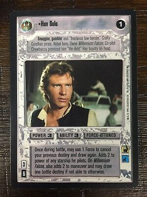Decipher Customisable Card Game CCG Premiere Edition Star Wars Han Solo