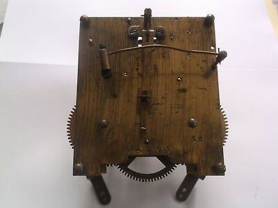 MECHANISM  FROM AN OLD TOP HAT  MANTLE CLOCK working order ref D4