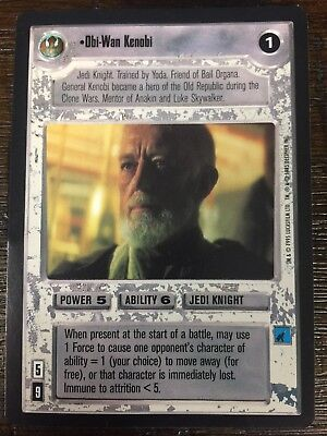 Decipher Customisable Card Game CCG Premiere Edition Star Wars Obi-Wan Kenobi