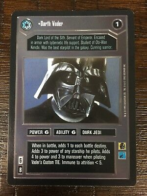 Decipher Customisable Card Game CCG Premiere Edition Star Wars Darth Vader Card