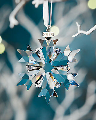 New Swarovski 2018 Large Snowflake Annual Glass Ornament - AUTHENTIC