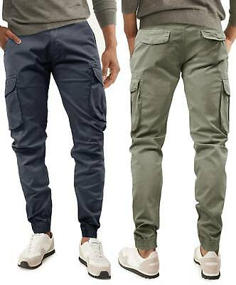 Pantaloni Uomo GIROGAMA Casual Multitasche Cargo Tasconi Laterali Slim 8223IT