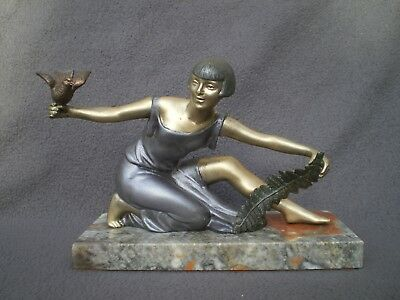 ancienne sculpture femme art deco P.SEGA 1920 1930 woman statue figurine vintage