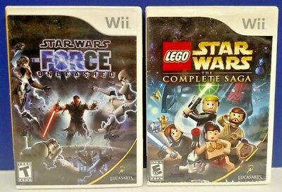 Star Wars Force + Lego Complete Saga - Nintendo Wii / Wii U Game Lot  Tested
