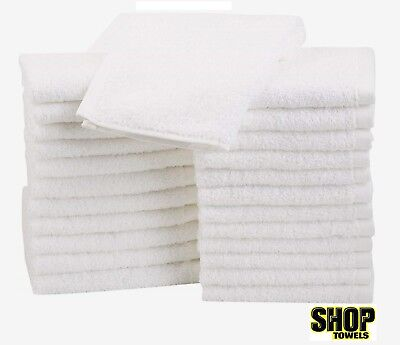 100 terrycloth shop rags towels cleaning wiping 100% COTTON janitorial 12x12