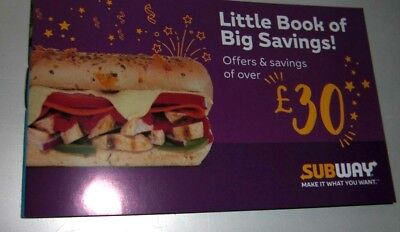 Subway Little Book Of Savings - £30 Worth Of Money-Off Coupons/Vouchers Central
