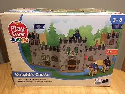 Playtive Junior Portable Wooden Knights Castle Age 3-8 Years