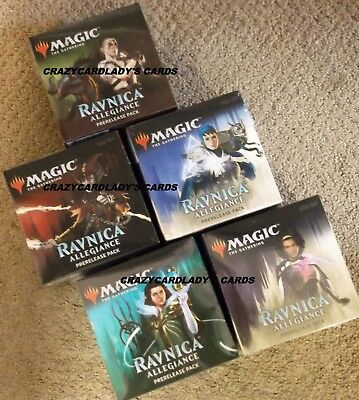 Magic The Gathering Ravnica Allegiance Prerelease Kit Set Of 5 Priority Shipping