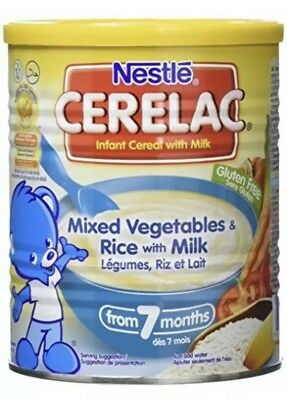 Nestle Cerelac Mixed Vegetables and Rice with Milk From 7 Months (400g)