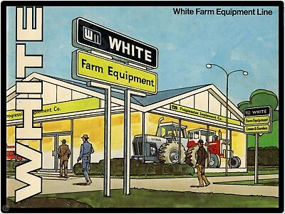 "WHITE FARM EQUIPMENT  9"" x 12"" Sign"