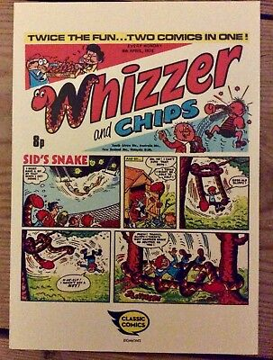 Vintage British comic Whizzer and Chips promo postcard would look great framed