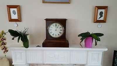 Substantial antique clock! New Haven, Scottish Georgian style mantel/bracket GWO
