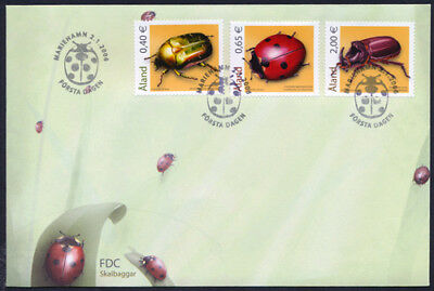 Aland 2006 Insects - Beetles  FDC