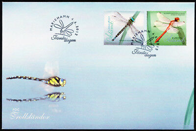 Aland  2012 Insects - Dragonflies FDC