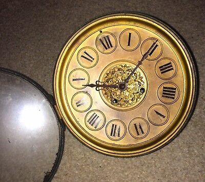 A Seven Inch Brass Dial French Movement For Spares Or Repairs