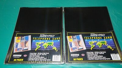 (2) Ultra Pro 8 x 10 Pages ~ Telephone Pages ~ 8-pocket Pages NIB