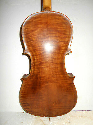 "Nice Antique Old Vintage Mid 1800s ""Guarnerius"" 2 Pc Back Full Size Violin - NR"