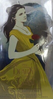 Beauty And The Beast Lithographie Collection Edition Limitée Nouveau Ovp