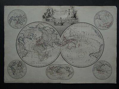 1812  LAPIE  Atlas WORLD map  MAPPE-MONDES - America - Asia - Africa - Europe