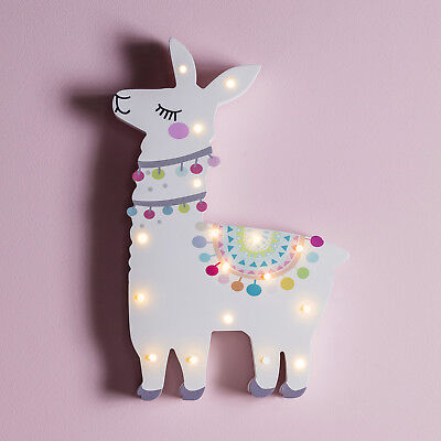 LED Lama Lampe Kinder Leuchtbild 30cm hoch Timer Batterie Lights4fun
