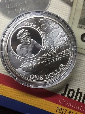 2017 1 oz Silver John F. Kennedy JFK Solomon Islands $1 Coin .999 ONLY 15,000