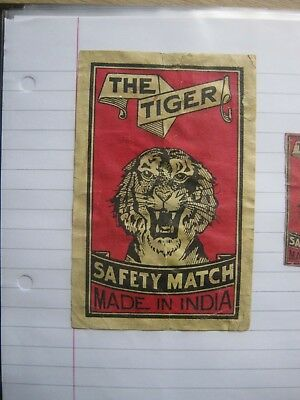 Old Indian Packet Size Matchbox Label.