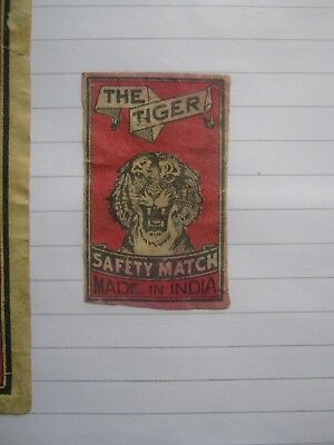 Old Indian Matchbox Label.