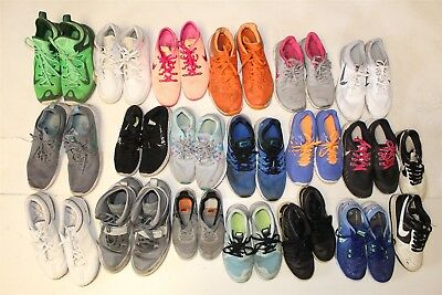 NIKE Lot Wholesale Used Shoes Rehab Resale NINETEEN PAIR COLLECTION aLxP