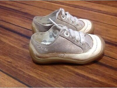 Clarks First Shoes Girl's Uk Size 5F Infant
