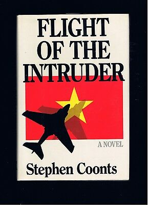 STEPHEN COONTS ~ FLIGHT OF THE INTRUDER ~ 1st Ed + 1st Book! ~ FINE/FINE COND