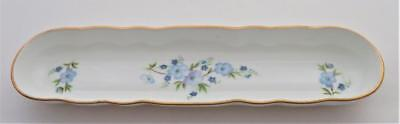 Hand Made Aristocrat Bone China England Nut or Mint Tray, Blue Flowers
