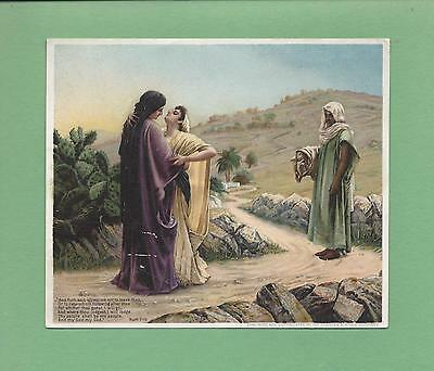 RUTH 1-16 BIBLE VERSE On HIRES' ROOT BEER Victorian Trade Card