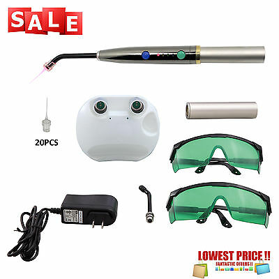 Dental Heal Laser Diode Rechargeable Hand-held Pain Relief PAD Lamp Pen +20 Tips