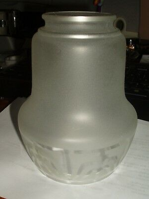 Vintage Frosted Glass Ceiling Sconce  Art Deco Design 2""