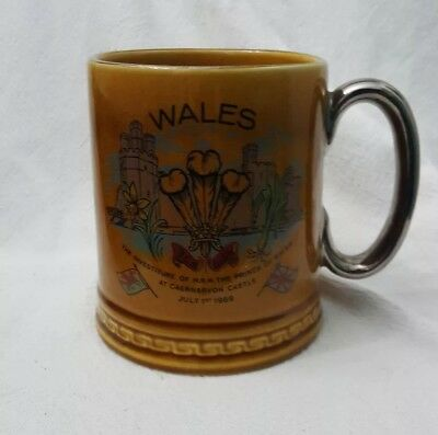Ceramic Tankard. The Investiture Of HRH Prince Of Wales.