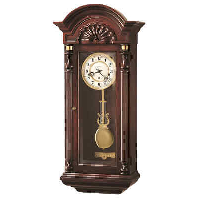 NEW Howard Miller 612-221 Jennison Traditional Cherry Chiming Wall Clock 612221