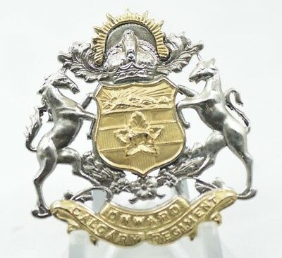 RARE - The King's own Calgary Regiment - Cap Badge - Canada WW2 - 46mm X 49mm