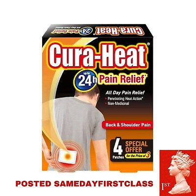 Cura Heat Back & Shoulder Pain Relief Heat Pads Patches