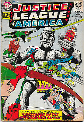 Justice League Of America #15 DC Comics 1960s Julius Schwartz VG