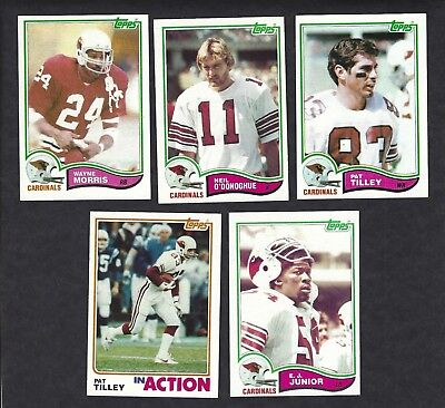 1982 Topps Football Lot Of 5 St Louis Carinals 470 473 474 475 476 Vintage