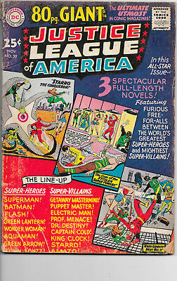 Justice League Of America #39 Giant Size DC Comics 1960s VG