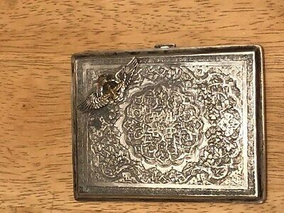 Antique Silver Persian Cigarette Case