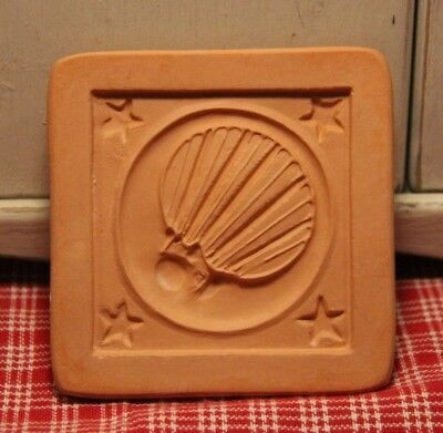 "Vintage Cotton Press ""Wisdom is Better Than Rubies"" Cookie Press! Air Balloon"