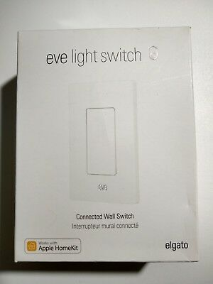 Elgato Eve Wireless Smart Light Switch Connected Wall Bluetooth