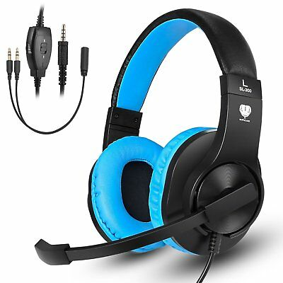 Gaming Headset W/Mic Stereo Surrounding Headphone 3.5mm For PS4-pro PC Laptop NS