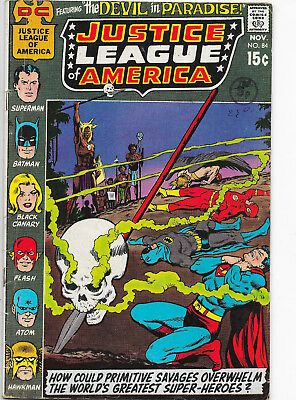 Justice League Of America #84 DC Comics 1970s Dick Dillin F