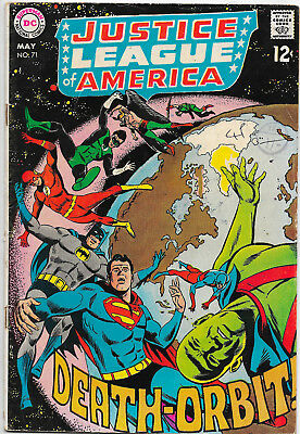 Justice League Of America #71 DC Comics 1970s Denny O'Neil F